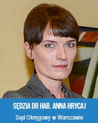 sędzia dr hab. Anna Hrycaj