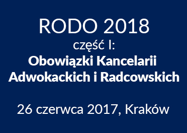 Zabezpieczony: RODO 2018 – część I